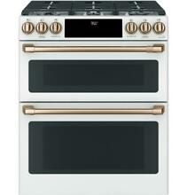 GE Cafe 30  Dual Fuel Double Oven Range w  Convection Matte White NEW