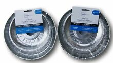 The Basics 24 Piece Electric Stove Disposable Drip Pan Liner Set  Silver