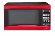 Mainstays 0 7 cu ft Microwave Oven Red 700w Dorm Bedroom Compact BRAND NEW