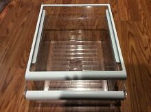 Kenmore Refrigerator Spill Proof Glass Shelf 2210444 w  Meat Drawer 2176282