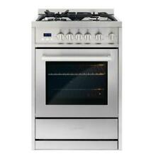 Cosmo COS 244AGC 24  Convection Gas Range Stainless Steel
