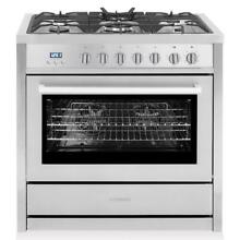 Cosmo F965NF 36  Professional Dual Fuel Range Stainless Steel