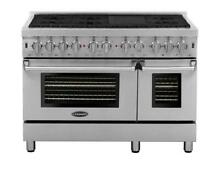 Cosmo DFR486G 48  Commercial Style Dual Fuel Range Stainless Steel