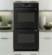 NEW  GE JK3500DFBB 27 Inch Electric Double Self Clean Wall Oven   Black