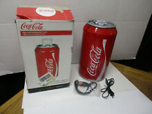 Coca Cola Mini Fridge 8 Can Portable Refrigerator AC or DC