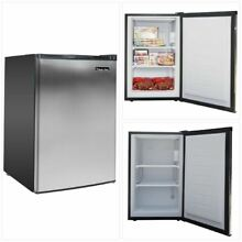 Small Upright Freezer Stainless Steel Compact Little Kitchen Apartment 3 cu ft