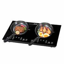 1800W 2 Induction Cooker Countertop Double Burner Cooktop Digital Touch Panel US