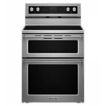KitchenAid 30  Stainless Steel Electric Double Oven Convection Range