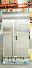 SUB ZERO 48  MODEL 690 ICE WATER PERFECT STAINLESS DOORS BUILT IN REFRIGERATOR