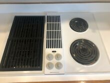 Jenn Air 30  Electric Cooktop with Grill and Downdraft Options Model CVE4180W