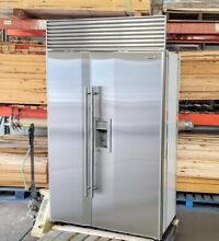 SUB ZERO 48  MODEL 690 S ICE WATER STAINLESS BUILT IN REFURBISHED REFRIGERATOR