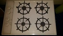 GE 4 burner gas cooktop w all accessories