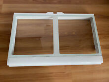 WPW10671240 MAYTAG REFRIGERATOR CRISPER DRAWER FRAME   GLASS SHELF WP67006877