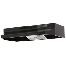 30 in  Ductless Under Cabinet Range Hood with Light in Black Oven Stove Filters