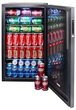 NewAir 126 Can Freestanding Beverage Fridge    Stainless Steel  FREE SHIPPING