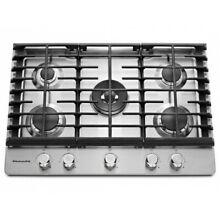 KitchenAid 30  Stainless Steel 5 Burner Gas Cooktop