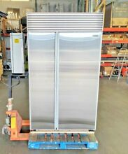 SUB ZERO 48  NO FLAW STAINLESS BUILT IN REFURBISHED REFRIGERATOR   DISCOUNTED