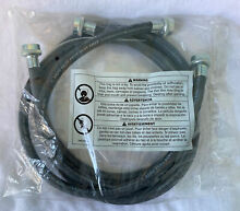 3ft Washing Machine Black Rubber Hot   Cold Water Supply Hoses 2 Pack A112 18 6