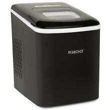 Igloo ICEBNH26BK 26 Pound Self Cleaning Ice Maker in 7 mins   Ice Bucket  White