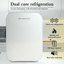 20L Portable Small Fridge Table Top Electric Mini Cooler Bedroom Ice Box Office