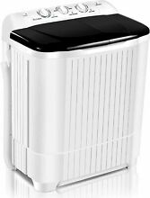 26LBS Compact Portable Washing Machine Twin Tubs  Spiner Dryer Laundry Washer