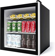 Aneken Beverage Refrigerator 17 Inch Wide 62 Cans Beverage Cooler with Double