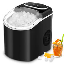 Portable Ice Maker Machine Countertop 26 LBS 24H Self cleaning w  Scoop Black