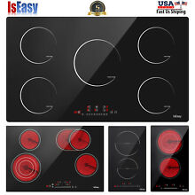 Electric Induction Ceramic Cooktop 12 23 30 36in  2 4 5 Burners Built in Cooker