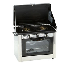 Outdoor Propane Camp Oven 2 Burner Heat Thermometer Matchless Ignition Stainless