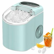 Portable Countertop Electric Ice Cube Maker Machine 26lb 24H Self Cleaning New
