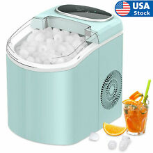 Portable 26lb 24H Electric Countertop Ice Cube Maker Machine Two Size Ice S L