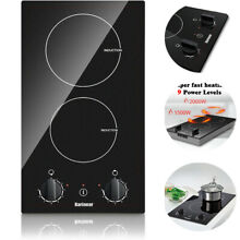 220 240V Built in Induction Cooktop 12 Inch Electric Stovetop 3500W Hard Wired