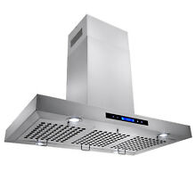 36  Europe Stainless Steel Island Mount Range Hood Stove Vent w  LED Lights