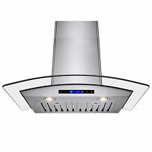 30  Europe Exhaust Stainless Steel Glass Wall Range Hood Stove Vent w  Remote