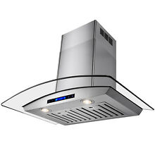 30  Wall Mount Range Hood Kitchen Fan Stove Vent Stainless Steel w  Remote