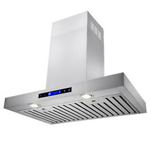 Stainless Steel 30  Kitchen Wall Mount Range Hood Powerful Vent w  Remote