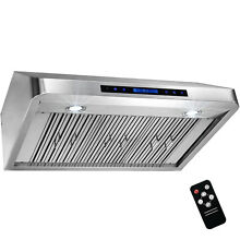 36  Under Cabinet Stainless Steel Range Hood Kitchen Stove Vent with Remote