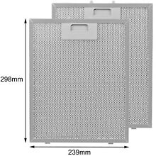 2 x Silver Grease Filter For BRITANNIA Cooker Hood Vent Fan Filters 300 x 240 mm