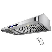 42  LED Display Touch Control Under Cabinet Stainless Steel Range Hood Kitchen