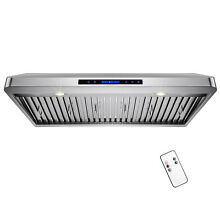 48  Stainless Steel Range Hood Under Cabinet Mount Touch Screen Display Remote