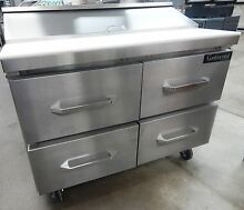 SW4812D Refrigerated Sandwich Salad Unit 48  wide with Drawers 12 Pans
