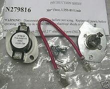 WP279816 for Whirlpool Kenmore Dryer Thermostat Thermal Fuse PS334299 AP3094244