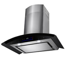 30  Wall Mount Stainless Steel Range Hood Touch Screen Control