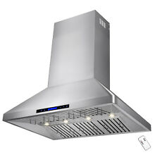 Stainless Steel 48  Dual Motor Range Hood Wall Mount Design For Kitchen