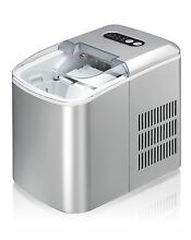 Sunpentown IM 124S Portable Small Compact Ice Maker   Silver