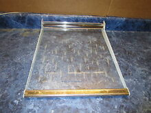 GE REFRIGERATOR SHELF WITH WHEAT PART  WR71X1614
