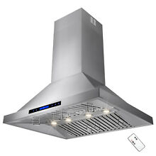 36  Stainless Steel Island Mount Range Hood w  Touch Screen Control