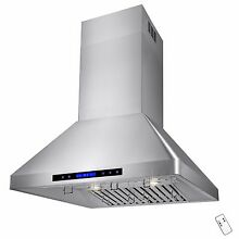 30  Stainless Steel Island Range Hood Kitchen Cooking Stove Vent   Fan   Exhaust
