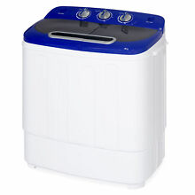 BCP Portable Mini Washing Machine w  Hose  13lbs Capacity   White Blue