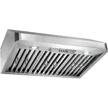 30  Stainless Steel Under Cabinet Classical Push Button Control Range Hood Vent